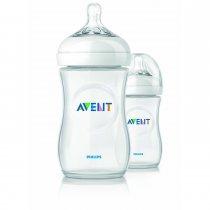 Philips AVENT ขวดนมรุ่นธรรมชาติ 11 OZ/330 ML แพคคู่ - BPA Free Natural Polypropylene Bottles