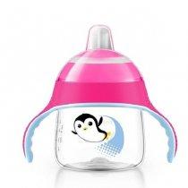 Philips AVENT ถ้วยหัดดื่มเพนกวิน 7 Oz. - Premium Spout Penguin Sippy Cup 7 Oz., สี: ชมพู