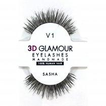 Sasha ขนตาปลอม 3D Glamour Handmade, แบบ: V1