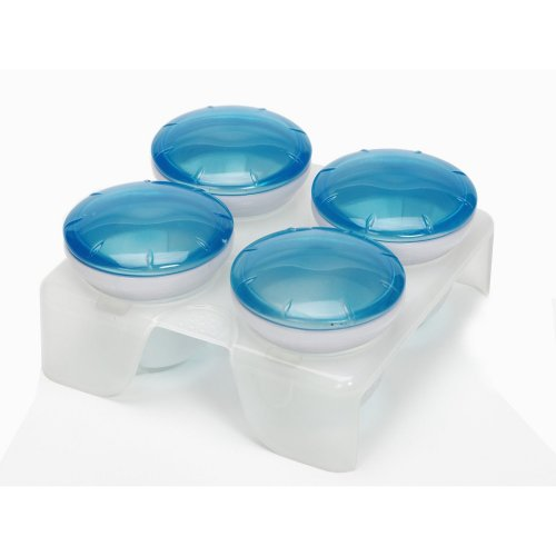 Munchkin Fresh Food Freezer Cups, สี: ฟ้า