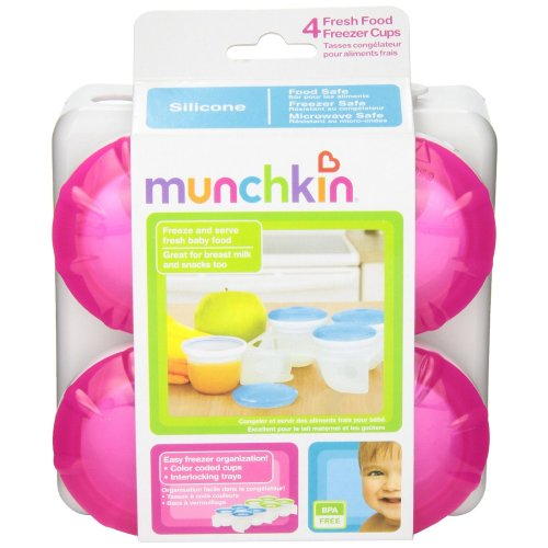Munchkin Fresh Food Freezer Cups, สี: ชมพู